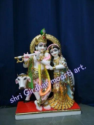 Marble radha krishna jugal  moorti