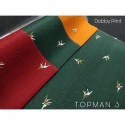 Dobby Print Shirting Fabric
