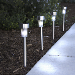 Solar Garden Light SLR01 Steel Pole Warm White 10pcs Box