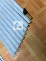 Sky Blue Stainless Steel Groove Profiles