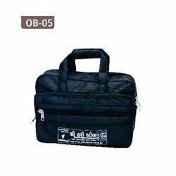 Black Polyester Printed Office Bag, Capacity: 10 Kg