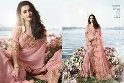 Party Wear Border Sulakshmi Designer Saree, 6 m (With Blouse Piece)