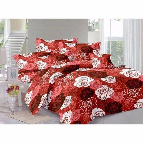 printed rose floral bed sheet set rs 525 set mustard designing