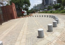 Grey Granite Traffic Bollards
