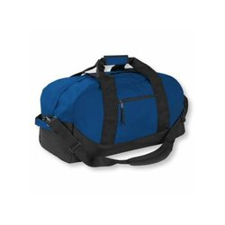 Blue and Black Polyester Duffle Bags
