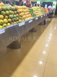 Vegetable Stainless Steel Display Rack