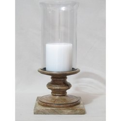 Sra Wood And Glass Candle Hurricanes Rs 450 Piece Sunrise Arts Id 19920561148
