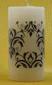 White Scentiments Printed Pillar Candles