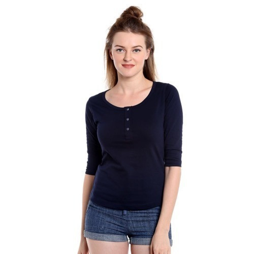 a1f31122e Women's Henley T Shirt, Rs 170 /piece, The Dry State   ID: 14564646312