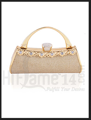 d59497337c584 Cream Handle Clutch Bag With Sparkling Stones, Rs 1795 /piece | ID ...