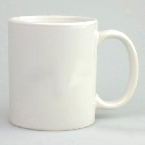 Ceramic White Sublimation Mugs, Size: 11 Oz