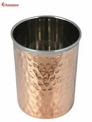 Copper / Stainless Steel Glass (Hammered)