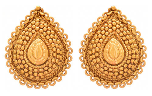 800dcf2dd JFL Drop shape -traditional ethnic gold plated drop shap stud earring