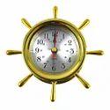 Ship Wheel Porthole Clocks