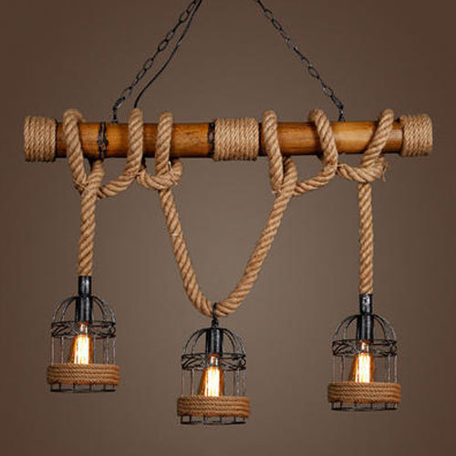 Bamboo iron pendant rope hanging light 2 w rs 3500 set id bamboo iron pendant rope hanging light 2 w aloadofball Choice Image
