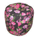 Floral Printed Cotton Ottoman