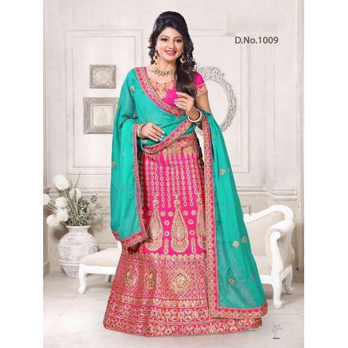 8a0cfa68b0 Ladies Banglori Silk Designer Embroidery Lehenga Choli, Rs 1800 ...