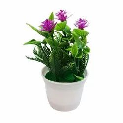 Artificial Orchid Flower Bouquet with Vase / for Home & Party Decoration, Purple Silk Flower