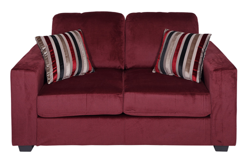 Fabio New Fabric Sofa 2 Seater - Burgandy