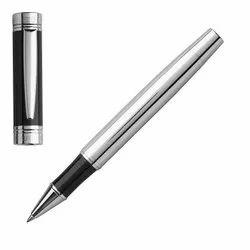 Metal Blue Metallic Ball Pen, Packaging Type: Box, for Writing