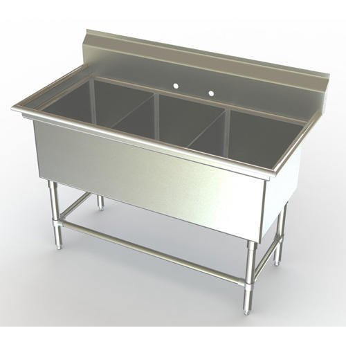 Commercial Stainless Steel Sink, Thickness: 1.6 mm