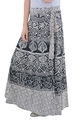 Indian Black And Mandala Elephant Women Cotton Rapron Skirt