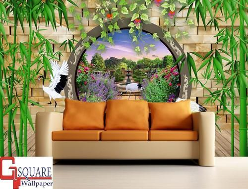 Horizontal Vertical PVC HD 3d Ized Wallpaper Size Custom