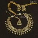 Traditional Bollywood Polki Necklace Set