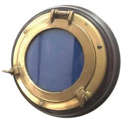 Oval Shape Wooden Brass Porthole Window