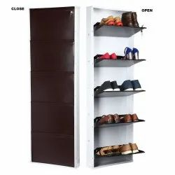 Parasnath White Brown Shoe Den with 5 Shelves