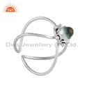 Handmade Apatite Gemstone Designer 925 Sterling Silver Ring Jewelry