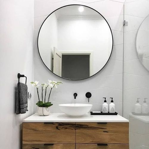 Charmant Round Bathroom Mirror