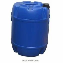 Blue Cylindrical HDPE Drum, Capacity: 0 to 50 Litres