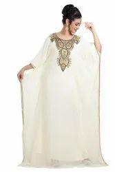 CREAM WEDDING GOWN DUBAI MAXI DRESS
