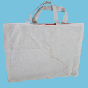 Plain Cotton Carrier Bag, Size: 15 X 18 Inch