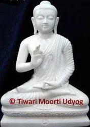 White Marble Budhha Statue