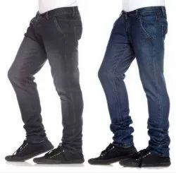 Faded Casual Wear Mens Side Pocket Jeans