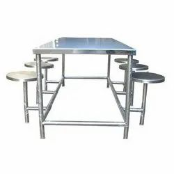 Stainless Steel Dining Table with 6 Seater