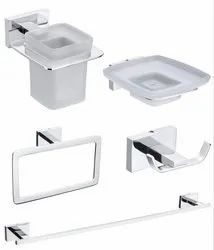 Brass Chrome 5 Pieces Bathroom Accessories Set