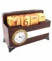 Wooden Table Top Calendar
