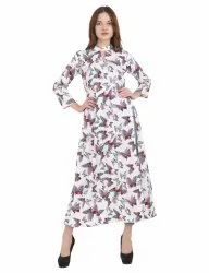 A - Line 3/4th Sleeve Style Crepe Kurtis, Age Group: 18-60 Years