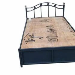 Iron Wooden Single Bed