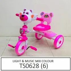 2 - 4 Year Baby Pink Plastic Children Tricycle