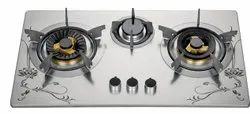 Lpg 3 Burners Semi Automatic SS Gas Stove, For Kitchen