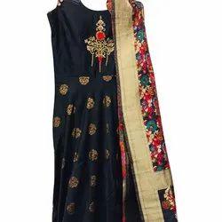 Silk Stitched Ladies Anarkali Suit