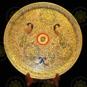 White Marble Handicraft Plate