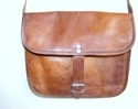Genuine Leather Landscape Satchel Bag
