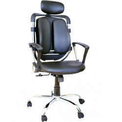 Black Leather Divine High Back Chair, Size: 70*64*110-120Cm