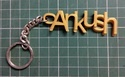 3D Printed Personalized Name Keyring