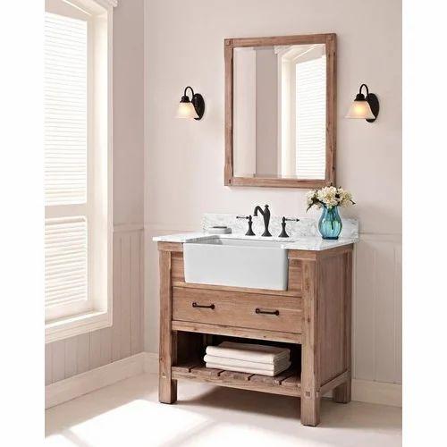 Wooden Rustic Bathroom Vanities Height 3 Feet Rs 1450 Square Feet Id 19834450933